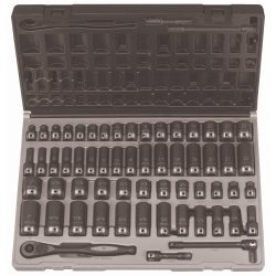 "Grey Pneumatic 81659CRD 3/8"" Drive 59pc Standard/Deep Length Fractional and Metric Duo-Socket Set - 6 P"