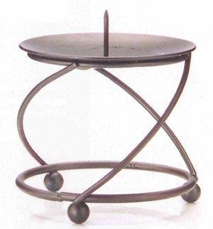 Colony Black Mini Spiral Pillar Candle Holder by Wax Lyrical