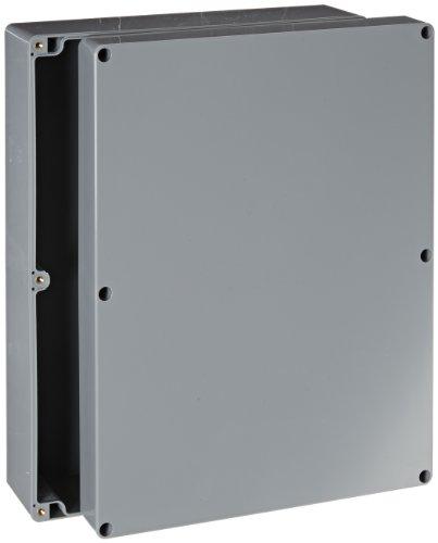 "Bud Industries Pn-1342-Dg High-Impact Abs Nema 4X Indoor Box, 11-51/64"" Length X 9-3/64"" Width X 3-3/8"" Height, Dark Gray Finish"