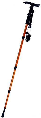 Kaito BT409 Anti-Shock Hiking Pole with 9-LED Flashlight with Battery Included and Compass & Thermometer Included .