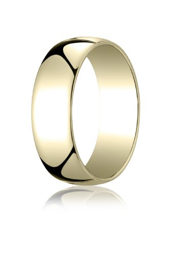 14K Yellow Gold, 7.0mm Low Dome Light Ring (sz 14.5)