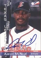Aaron McNeal Round Rock Express - Astros Affiliate 2000 Texas League Top Prospect... by Hall of Fame Memorabilia