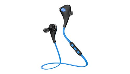 Bluetooth 4.1 Lightweight Headphones with Camara Wireless Control, Dual Connected, Incoming Call Number Notification, Sports/hiking/jogger/exercise/running/gym,workout Eearbuds Headphone Headsets Earpiece with Microphone,aptx,clear Sound, Noise Cancellation and In-ear/ Ear-canal-fit Designed for Iphone 6 6plus 5s 5c 5 4s, ipad, Samsung Galaxy Note, Most Android Smart Phones and Other Bluetooth-enabled Tablets (Blue)