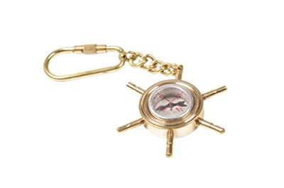 Ship's Wheel Compass Key Ring
