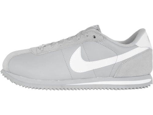 grey and white nike cortez