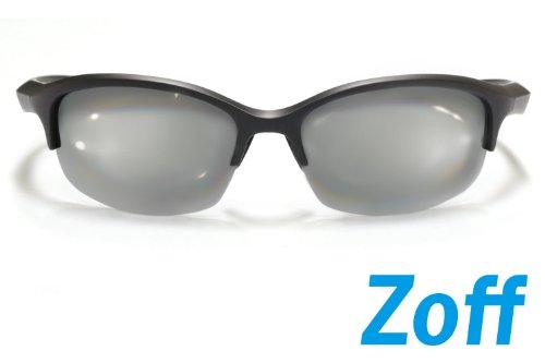 【Zoff Running with Q】ランニングサングラス Lサイズ(度なし)(Black×Black)