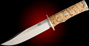 Fallkniven Knives SK6 Model SK6 Krut Fixed Blade Knife with Curly Birch Handles by Fallkniven