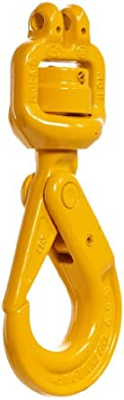 "Gunnebo-Johnson BKH-6-8 Chain Hoist Self-Locking Hook with Swivel, 7/32"" Chain Size, 80 Grade, 2100 lbs Working Load Limit"