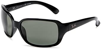 Ray Ban Sunglasses RB 4068 601 Glossy Black/Crystal Green, 60mm