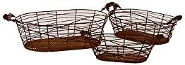 3-Pc Basket with Two Side Handle