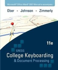 College Keyboarding & Document Processing Microsoft Office Word 2007 Manual
