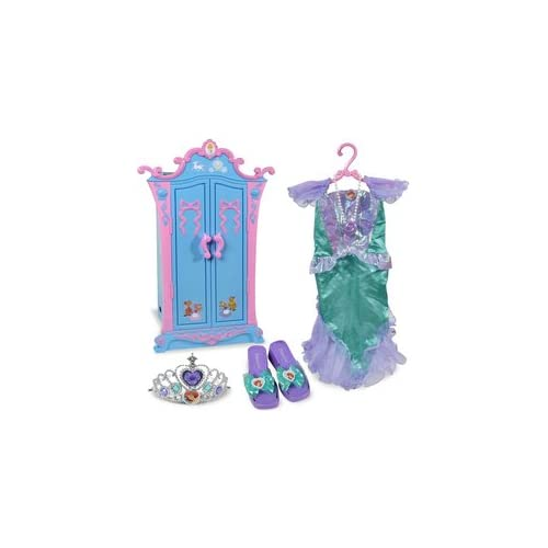 disney princess cinderella armoire with ariel dress up set. Black Bedroom Furniture Sets. Home Design Ideas