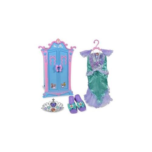 .com: Disney Princess: Cinderella Armoire with Ariel Dress-Up Set