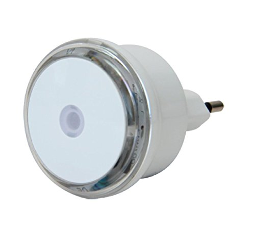 Electraline 58307 LED Night Light, Luce Notturna con Sensore Rilevatore Crepuscolare
