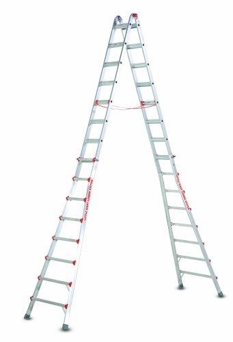 Little Giant Ladders 10109 SkyScraper 300-Pound Duty Rating Adjustable Stepladder, 15-Foot