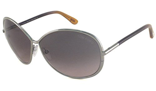 Tom Ford Women's Iris Sunglasses, Silver/Violet, One Size (Tom Ford Iris compare prices)