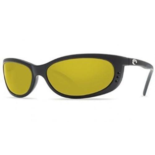 4d00ba023f Costa Del Mar Fathom Men s Polarized Sunglasses Matte Black Sunrise 580P  Medium