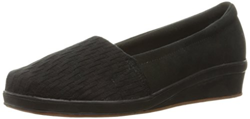 Grasshoppers Women's Ameila Wedge Fashion Sneaker, Black, 7.5 M US (Grasshoppers Shoes compare prices)