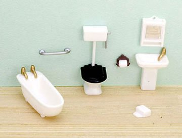 "Dollhouse 1/4"" 8 Piece Bathroom Set - 1"