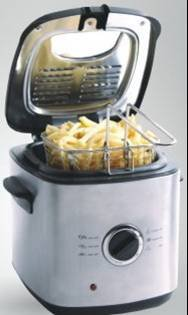 Ewave 1.2L Deep Fryer Black and Stainless EWDF12S