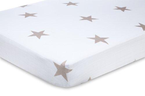 Imagen de aden + anais algodón 100% Crib Sheet Muselina, Super Star Scouts Fawn Star