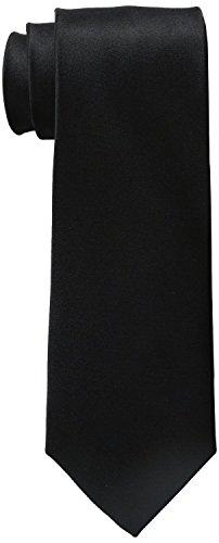 Mens Premium Black 100% Silk Tie Signature Wedding Collection 3.25 Inch Gift Boxed