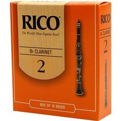 Rico Bb Clarinet Reeds, Strength 2.5, 3-pack