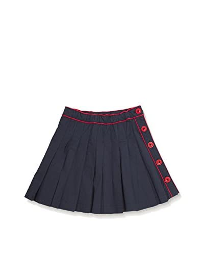 Dragon and the Rabbit Kids' Pleated Skirt with Side Buttons