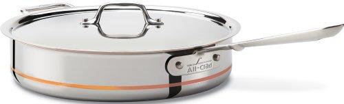 All-Clad 6405 SS Copper Core 5-Ply Bonded Dishwasher Safe Saute Pan / Cookware, 5-Quart, Silver (Cookware All Clad Copper Core compare prices)
