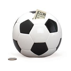 Soccer Ball Sports Themed Ceramic Kids Piggy