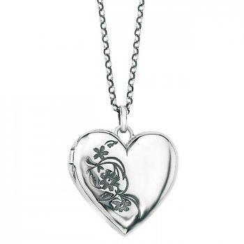 Oxidised Silver Heart Locket