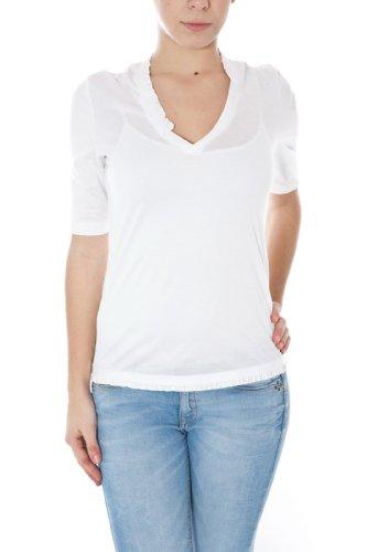 MONCLER T-SHIRT 310938159500 DONNA/WOMAN MANICHE CORTE Bianco TG:XS