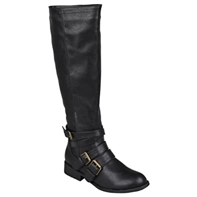 Brinley Co Womens Buckle Detail Tall Boots