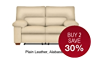 Buxton Medium Sofa Manual Recliner (Non Storage) - Leather