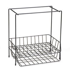 * Wire Double Tray with Hanging File, Letter, 13 5/8 x 10 1/16 x 14 7/8, Black *