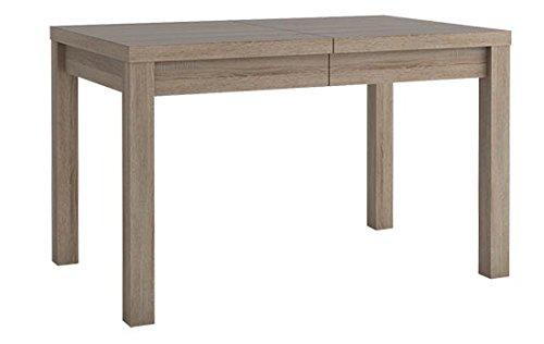 Extendable Dining Table 8, Truffle colour finish - W130 - 170 x H77 x D80 cm