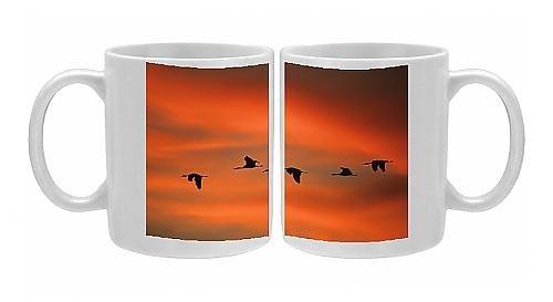 Photo Mug Of Sandill Cranes - In Flight At Dawn front-575016