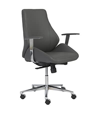 Euro Style Bergen Low Back Office Chair, Grey