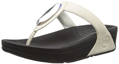 Fitflop Women's Chada Leather Sandals, Urban White, 3 UK