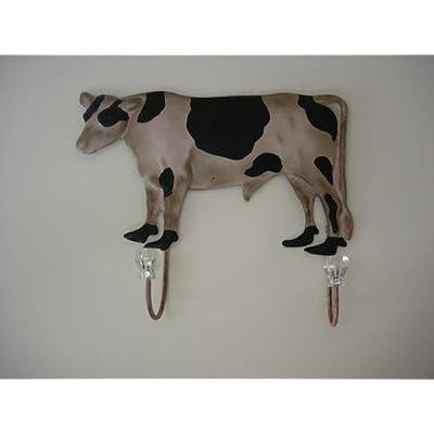 Metal Distressed Finish Cow Coat Hooks