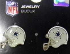 Dallas Cowboys Nfl Helmet Style Logo Stud Earrings