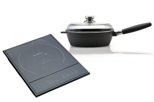 BergHOFF Touch Screen Single Induction Cooktop and Scala 10-Inch Deep Skillet