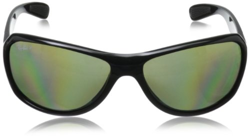 ray ban polarized mirrored aviators  rayban0rb4189polarizedwrapsunglasses