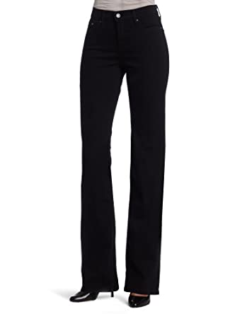 Levi's Women's 512 Perfectly Slimming Boot Cut Jean, Black, 2 Medium