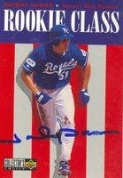 Johnny Damon, Kansas City Royals, 1995 Upper Deck Collectors Choice Rookie Class Autographed Card