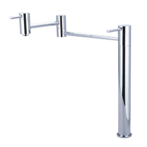 Pioneer Faucets Motegi Collection 124710-H58-BN Deck Mount Pot-Filler, PVD Brushed Nickel