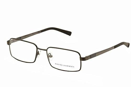 david-yurman-619-mens-rectangular-full-rim-eyeglasses-eyewear-55-18-140-dark-gray