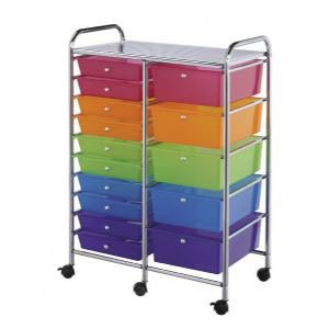 Mobile Storage Cart 15 Drawer Multi