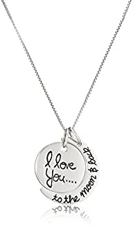 "Sterling Silver ""I Love You To The Mo…"