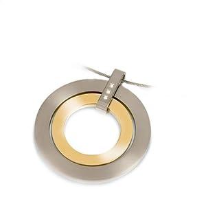 Boccia Damen-Anhänger Titan teilweise goldplattiert mit 3 Brillanten 0,015 0741-04